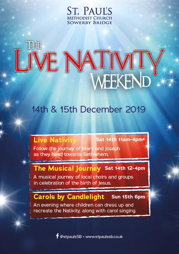 Live Nativity Poster